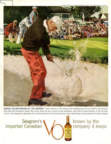 Seagram's VO Magazine, advert, USA, 1950s