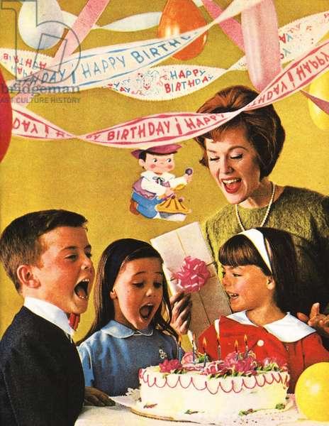 Birthdays parties Magazine, advert, USA, 1960s