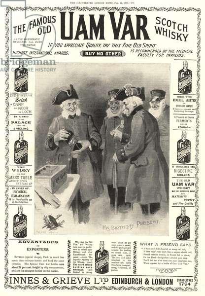 Uam Var Whisky Magazine, advert, UK, 1900s