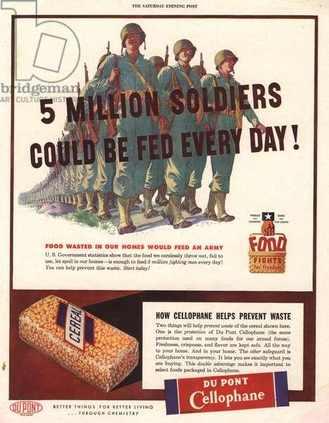 Cellophane Magazine, advert, USA, 1940s