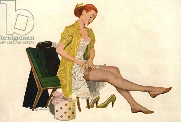 Nylon Stockings Magazine, advert (detail), USA, 1940s