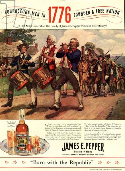 James E Pepper Whisky Magazine, advert, USA, 1930s