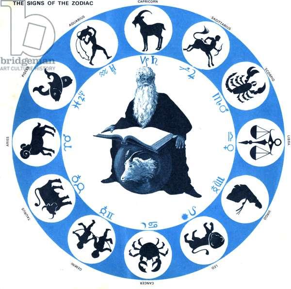 Zodiac Signs Book Plate, UK