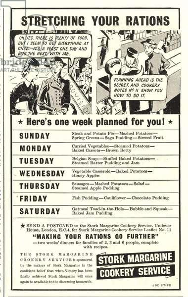 Stork Poster, UK, 1940s