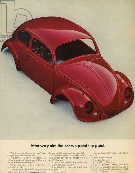 Volkswagen Magazine Advert, UK, 1960s