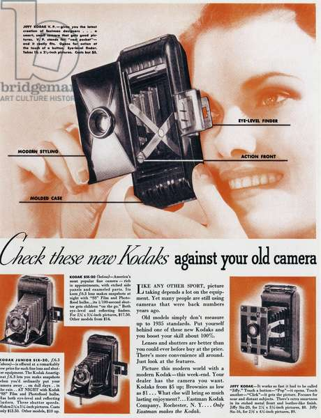 1930s USA, Kodak Magazine Advert