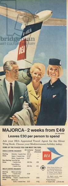 British Airways Magazine, advert, UK, 1960s