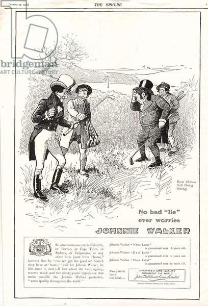 Johnnie Walker Magazine, advert, UK, 1930s