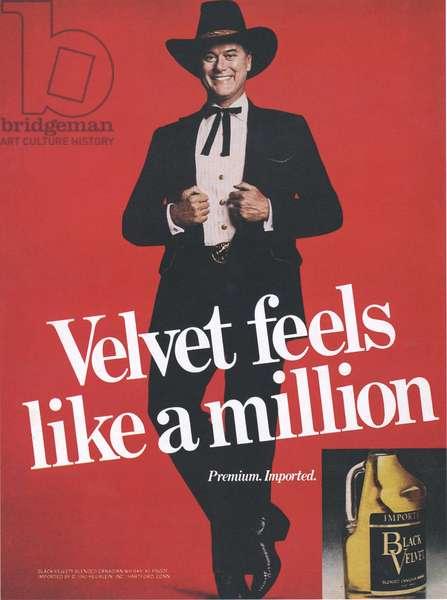 Black Velvet Magazine, advert, USA, 1980s
