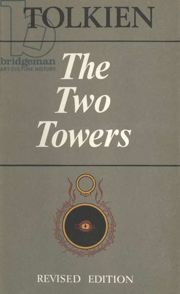 The Two Towers by Tolkien Book Cover, UK, 1970s