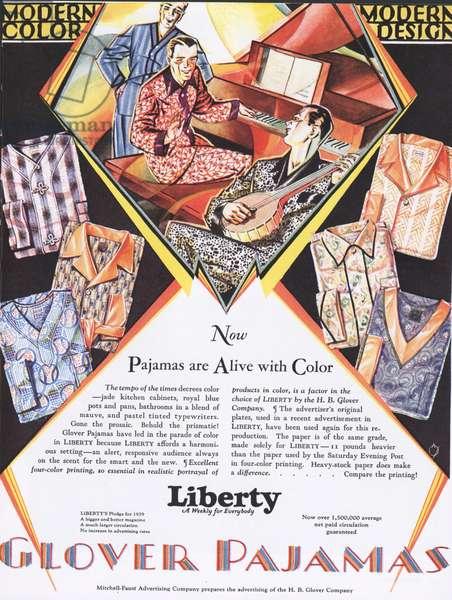 Liberty Glover Magazine, advert, USA, 1920s