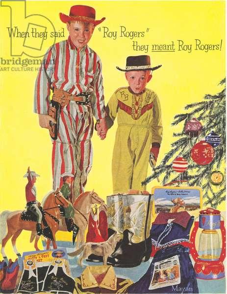 Roy Rogers Pyjamas Magazine, advert, USA, 1950s