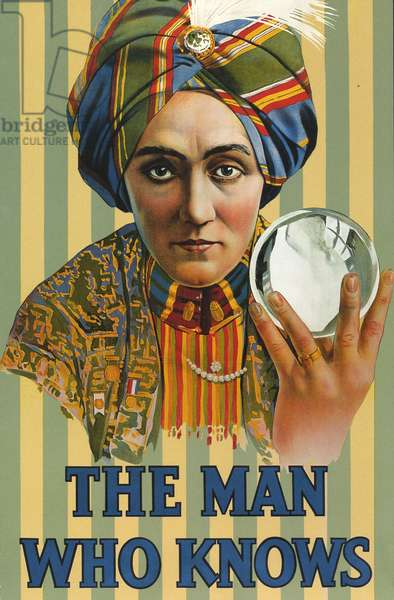 The Man Who Knows Poster, USA, 1920s