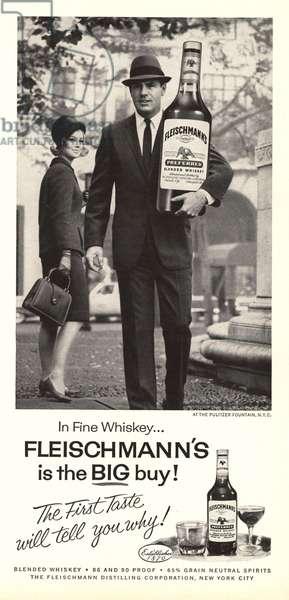 Fleischmann's Whisky Magazine, advert, USA, 1960s