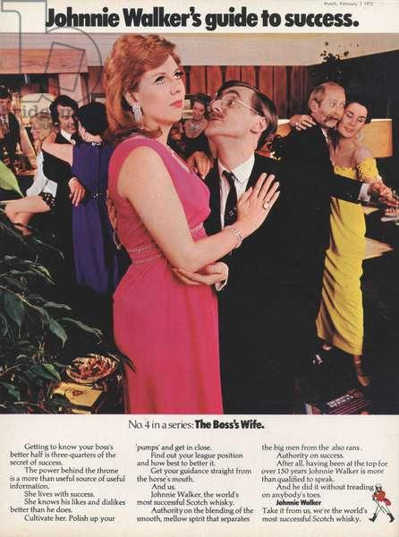 Johnnie Walker Magazine, advert, UK, 1970s