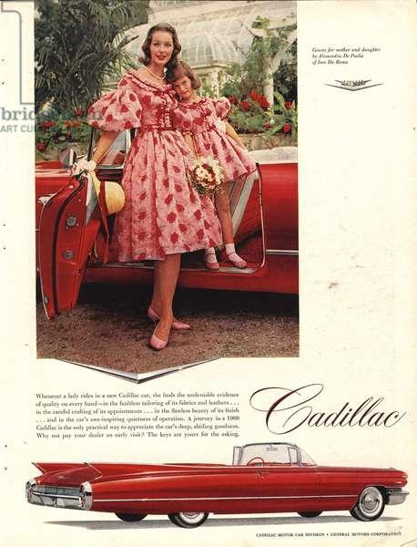 Cadillac Magazine, advert, USA, 1950s