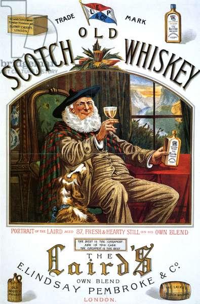 Old Scotch Whiskey Poster, UK, 1880s