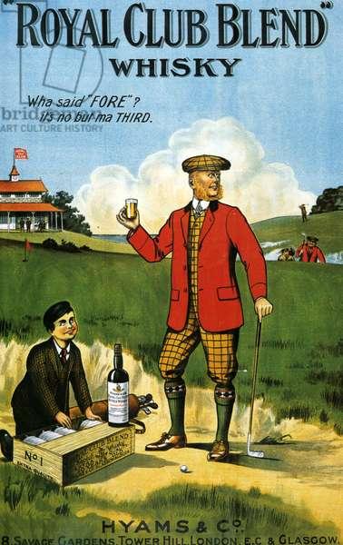 Royal Club Blend Whisky Poster, UK, 1900s
