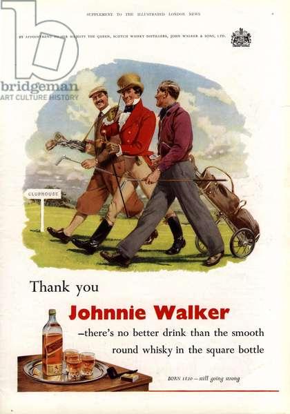 Johnnie Walker Magazine, advert, UK, 1950s