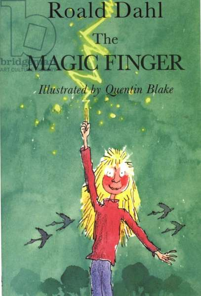 The Magic Finger by Roald Dahl Book Cover, UK, 1980s