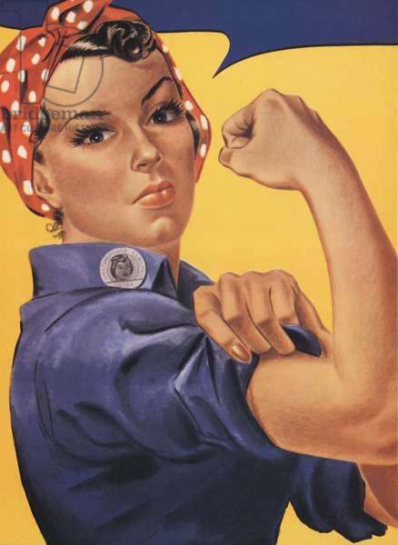 Rosie the Riveter Poster, USA, 1940s