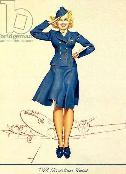 TWA Magazine Advert, USA, 1950s