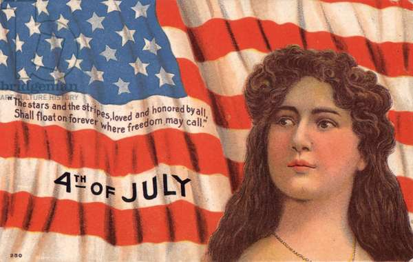Independance day cards July 4th Greetings Card, USA, 1900s