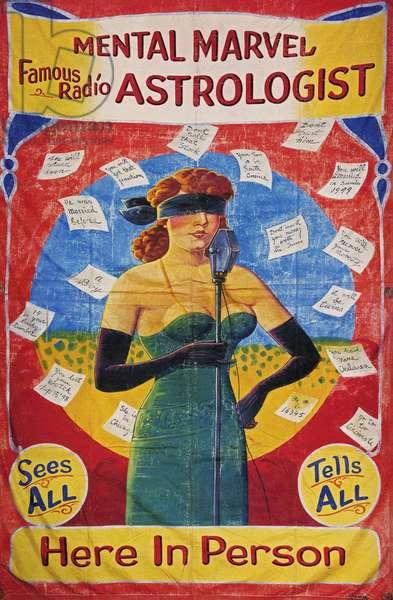 Mental Marvel Astrologist, poster,, 1900s