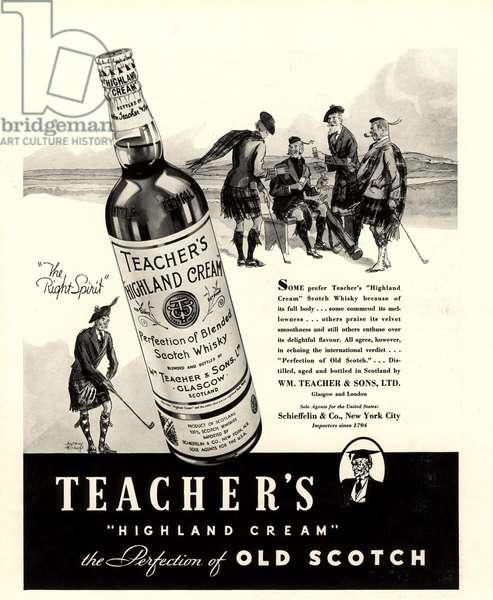 Teacher's Magazine, advert, UK, 1930s