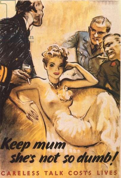 Keep Mum Poster, UK, 1940s
