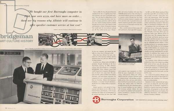 Burroughs Magazine, advert, USA, 1960s