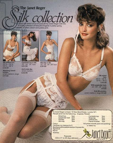 Janet Reger Magazine, advert, UK, 1980s