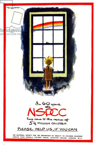 NSPCC, National Society for the Prevention of Cruelty to Children, poster, UK, 1940s