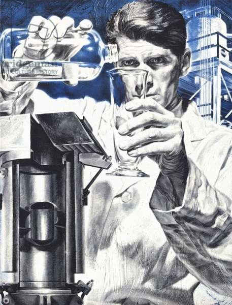 Scientific Experiments Magazine Plate, USA, 1960s