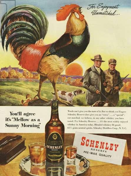 Schenley Magazine Advert, USA, 1940s