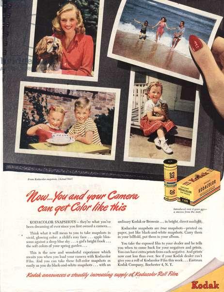 Kodak Magazine, advert, USA, 1940s