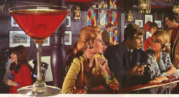 Southern Comfort Happy Hour Barguide Magazine, advert (detail), USA, 1960s