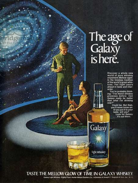 1970s USA, Galaxy Magazine Advert