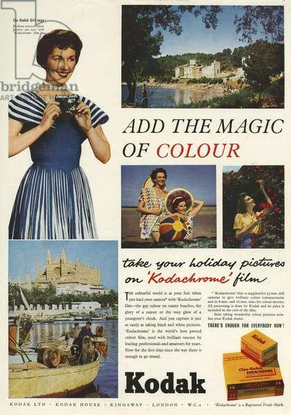 Kodak Magazine Advert, UK, 1950s