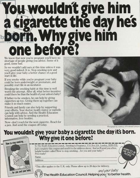The Health Education Council Magazine Advert, UK, 1970s