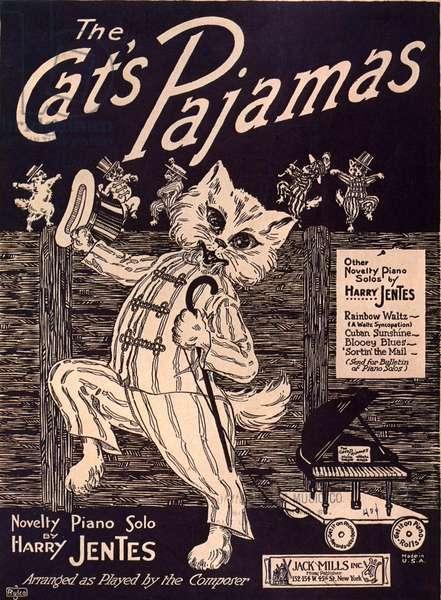 The Cats Pyjamas Sheet Music Cover, USA, 1920s
