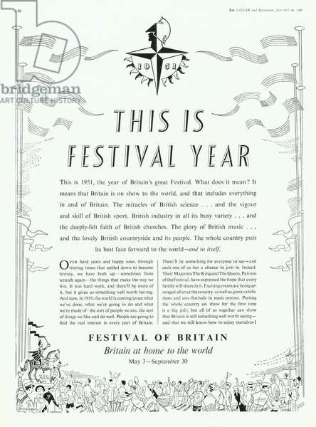 Festival of Britain Magazine, advert, UK, 1950s