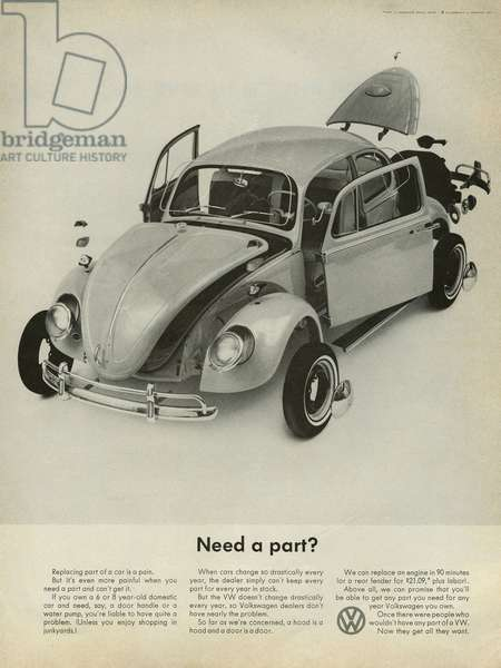 Volkswagen Magazine Advert, USA, 1960s