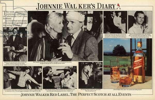 Johnnie Walker Magazine, advert, UK, 1980s