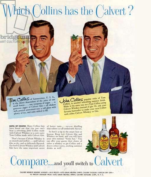 Calvert Magazine Advert, USA, 1950s