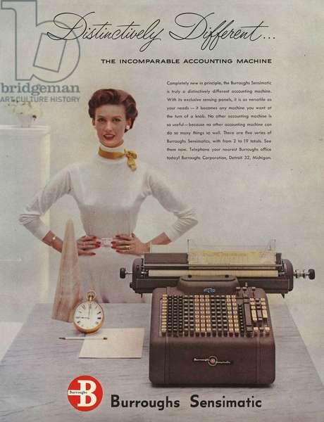 Burroughs Magazine, advert, USA, 1950s