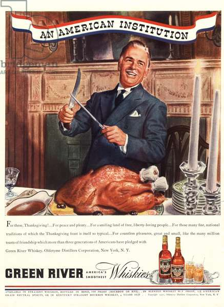 Carving the Turkey Magazine, advert, USA, 1950s