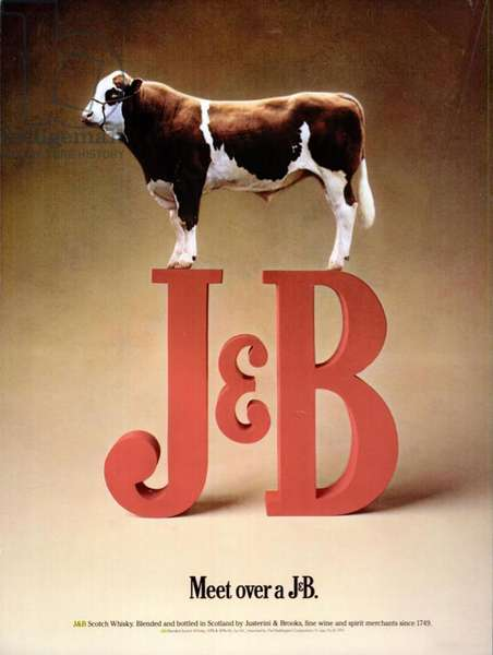 J and B, Justerini and Brooks Magazine Advert, USA, 1980s
