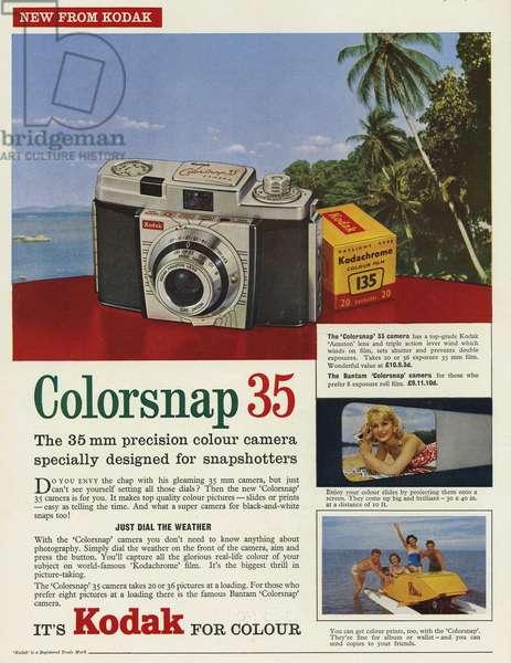 Kodak Magazine Advert, UK, 1960s