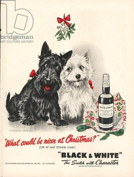 Black and White Magazine, advert, USA, 1940s